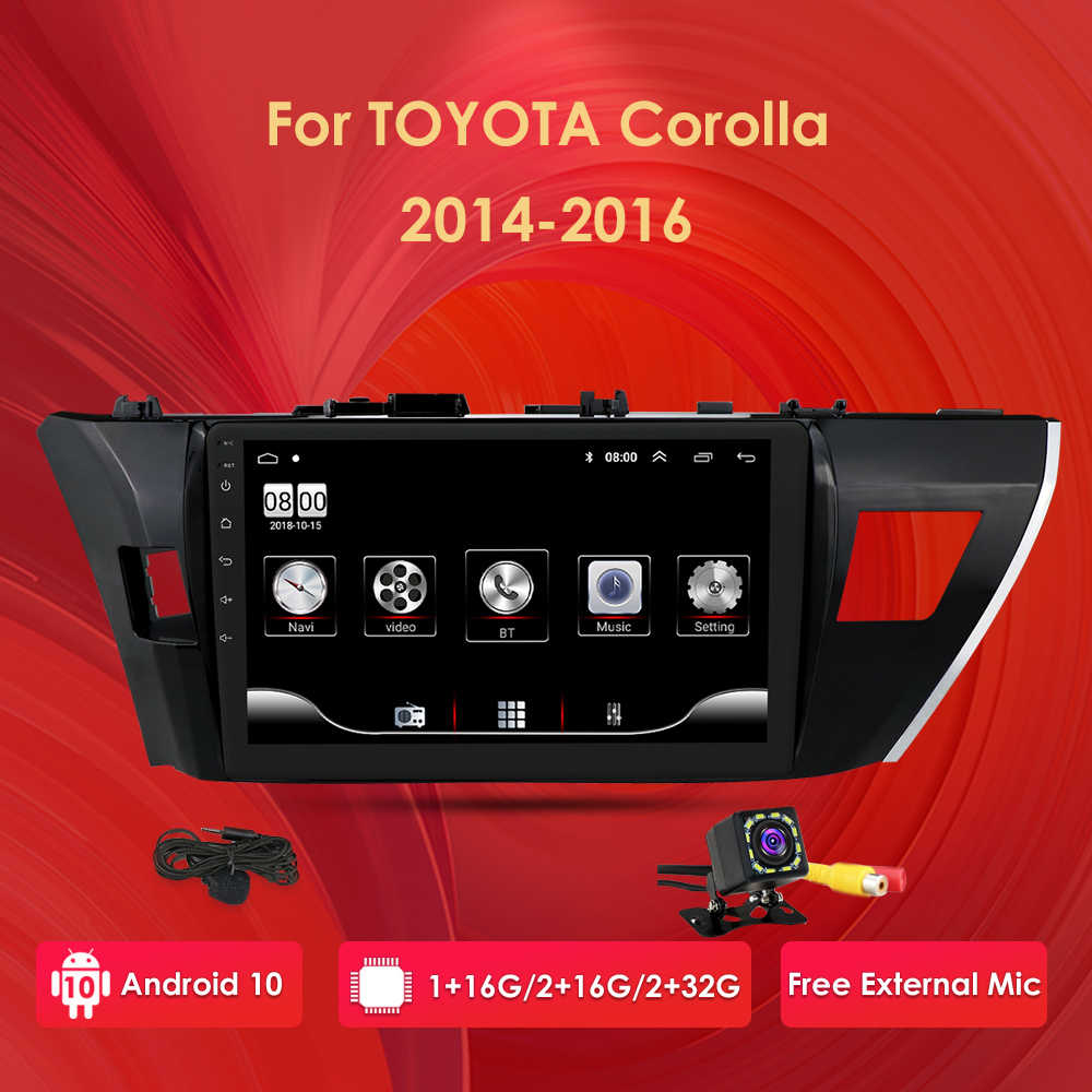 Pour Toyota Corolla 2013 2014 2015 Android 10 10.1 ''Rom 32GB voiture GPS Navigation Radio lecteur multimédia support TPMS DTV DAB OBD