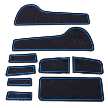 9 Pcs Interior Non-slip Gate Door Slot Pads Mat For Chevrolet Cruze 2009-2013 Drop Ship n21(China)