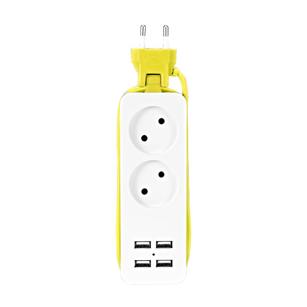 EU Plug USB Socket Power Strip Electric Socket Surge Protector Extension Sockets USB Smart Mobile Phone Wall Charger Desktop Hub