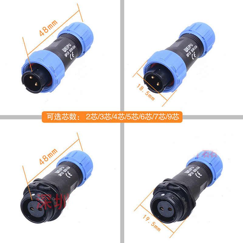 6 ip68 4-6,5mm 5a 125v soldadura weipu Conector sp1311//p6in macho sp13 pin