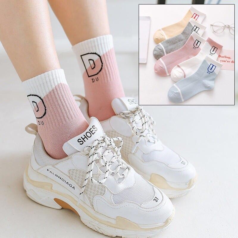 1 Pair Warm Winter Socks Women Cute Funny Socks Harajuku Streetwear Cotton Sock Ladies Art Sokken Skarpetki Calcetines Mujer