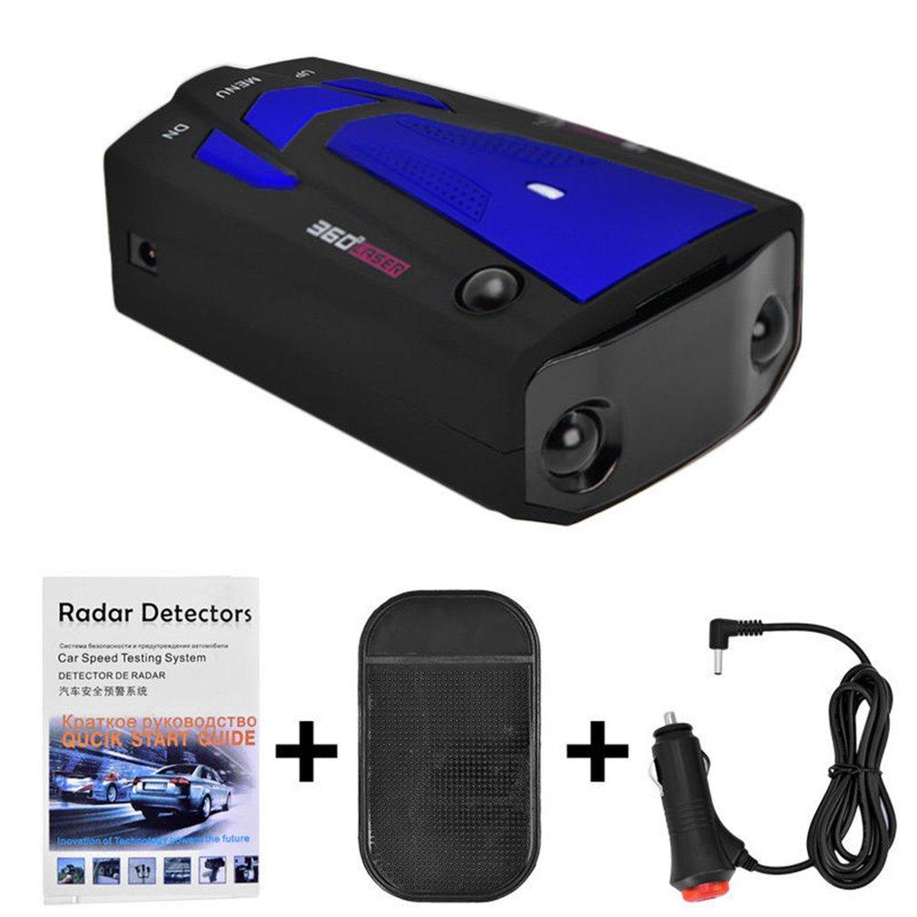 Car Radar Detector English Russian Auto 360 Degree Vehicle V7 Speed Voice Alert Alarm Warning 16 Band LED Display