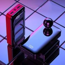 Внешний аккумулятор 20000 мАч Внешний аккумулятор 18650 повербанк 2 USB светодиодный type-c портативный мобильный телефон зарядное устройство для iPhone Xiaomi