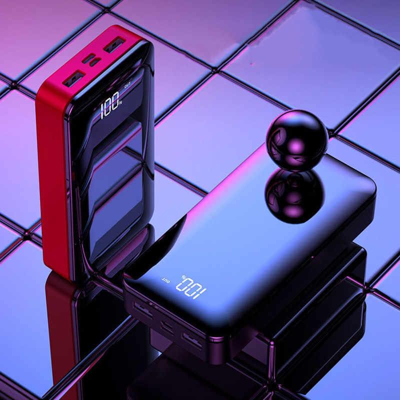 2019 قوة البنك 20000mah بطارية خارجية 18650 PoverBank 2 USB LED نوع-c المحمولة الهاتف المحمول شاحن آيفون شاومي