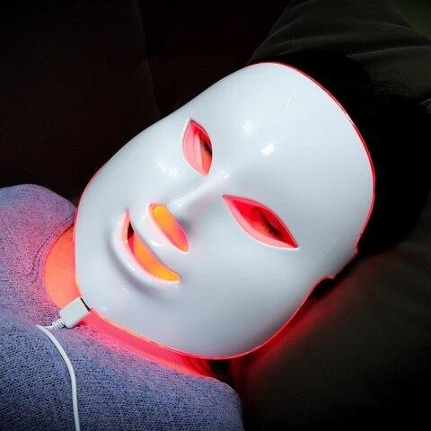 facial led terapia de luz beleza cuidados