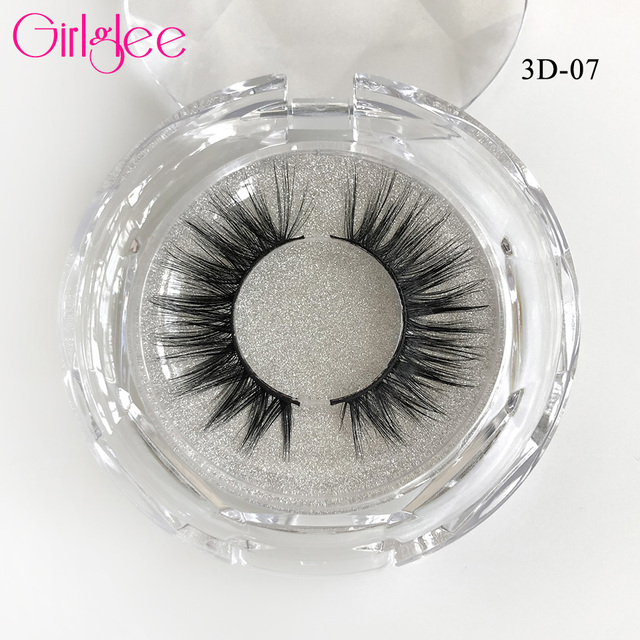 Natural Mink Eyelashes 3D Mink Lashes Long Thick False Eyelashes High Volume Eye lashes Girlglee Hand made Makeup Eyelash Soft 5