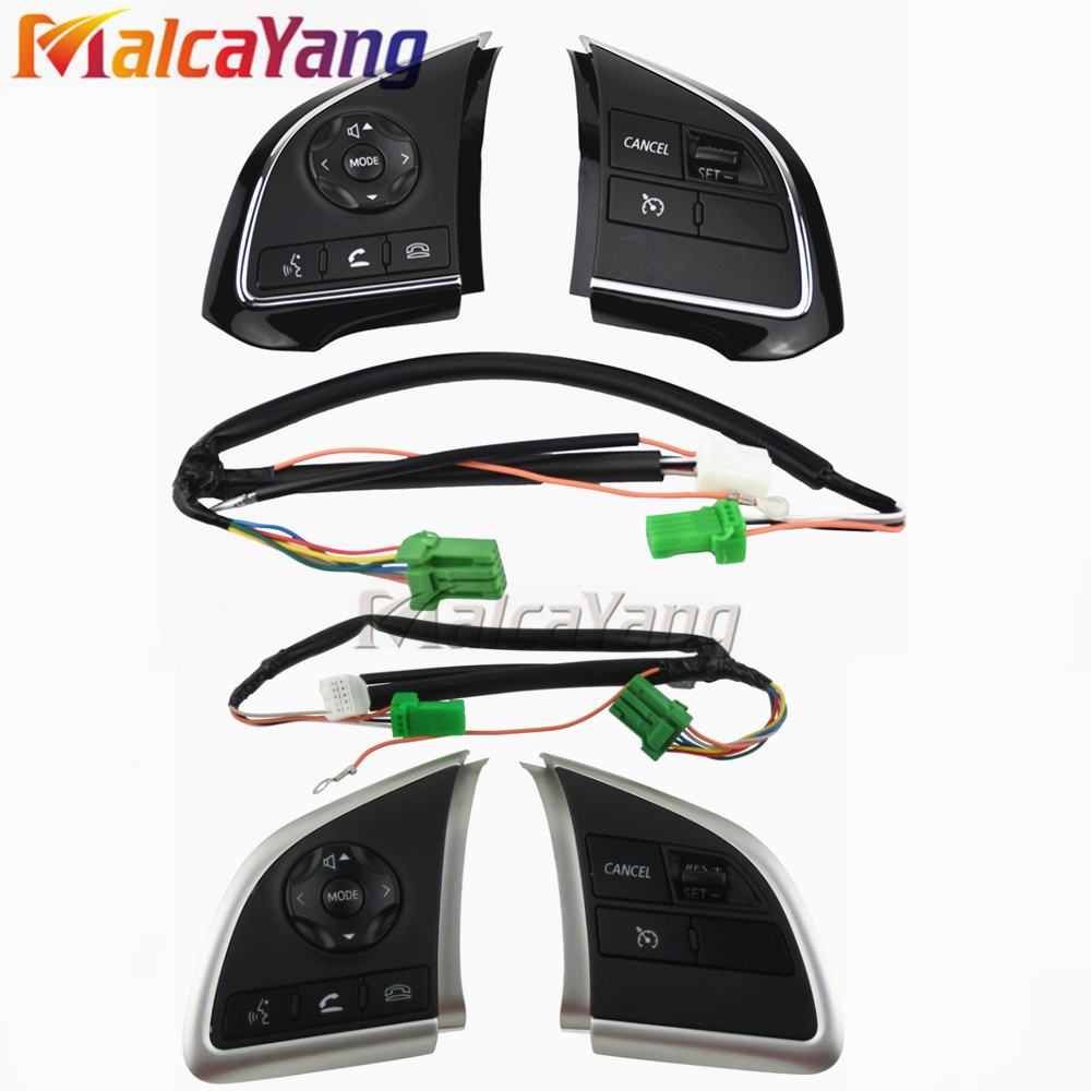 Phone Cruise Control steering wheel switch Auto Spare Parts steering wheel buttons For Mitsubishi Outlander 2013 2015 2016 2018-in Car Switches & Relays from Automobiles & Motorcycles