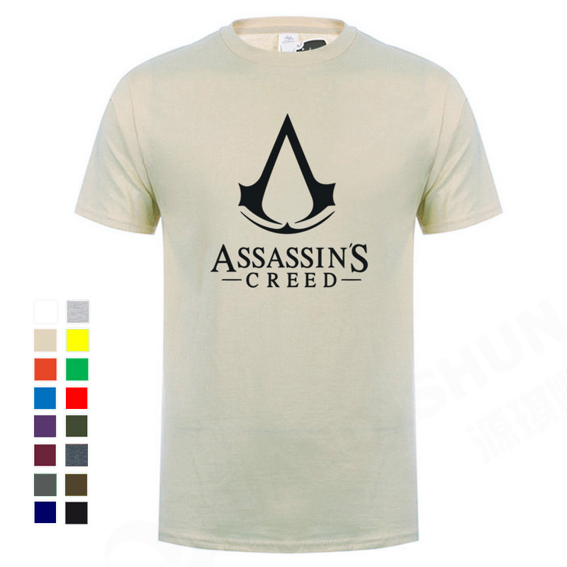 Boutique Men T-Shirt 2020 Summer Hot Cool Game Assasins Creed Unity Printed Tops Tees 100% Cotton Casual O-Neck T Shirt Cosplay image