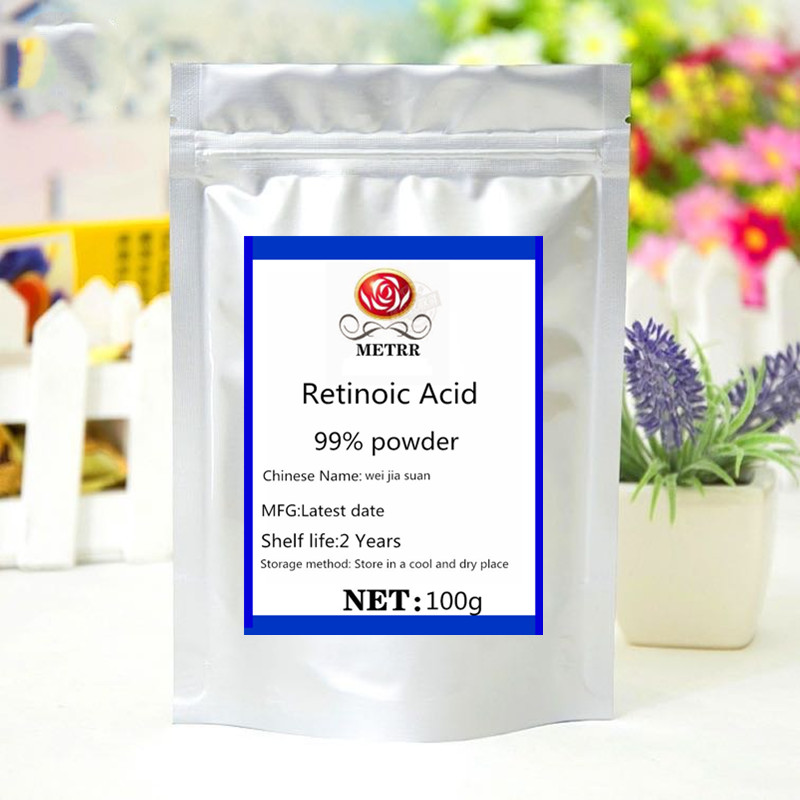 Top Selling ISO Certified Retinoic Acid Extract Powder Face Glitter Brightening Treatment Acne Reduce Wrinkles