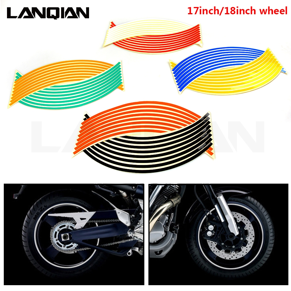 Motorcycle Strips Wheel Sticker Stripe Tape Motorbike Accessory For Suzuki RM RMZ RMX DR Djebel 85 125 250 400 450 S SM XC SB image