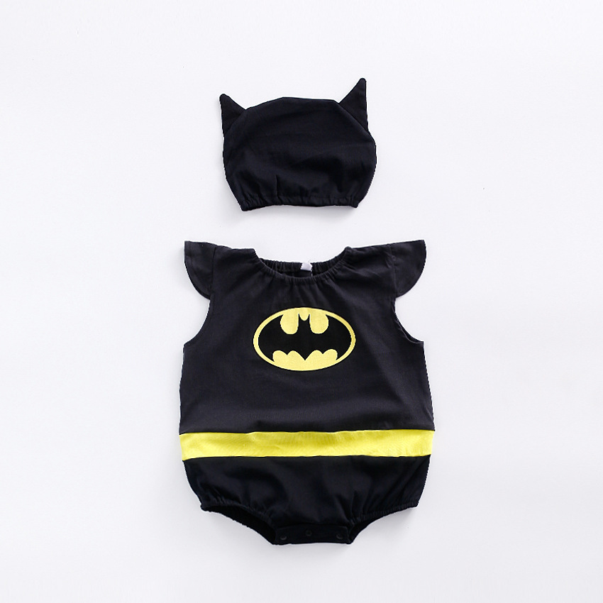 Christmas Halloween cosplay costume newborn baby Wukoon Minion bat man cartoon suit photograph make up dress costume for kids