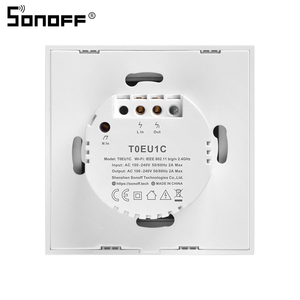 Image 3 - Sonoff T1 EU 1/2/3C Smart Wifi Touch Switch Light 220V RF/433Mhz/APP/Voice Remote Control Wall Wifi Switch Smart Home Automation