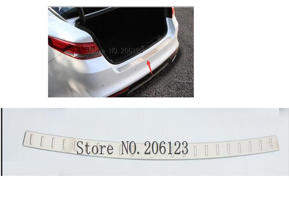 LOGO FIT FOR KIA OPTIMA K5 2016 2017 2018 2019 OUTER REAR BUMPER PROTECTOR CARGO BOOT DOOR SILL PLATE COVER TRUNK SCUFF image