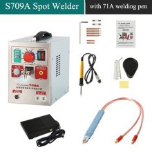 SUNKKO 709A with HB-71A Welding Pen LED Pulse Battery Spot Welder Spot Welding Machine for 18650 battery