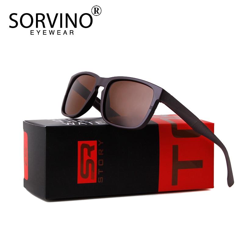 SORVINO Sporty Polarized Sunglasses Men's Elastic Black Comfortable Driving Fishing 2020 Design Fashion Square UV400 Sun Glasses