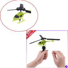 New Aviation Model Copter Handle Pull Helicopter Plane Outdoor Toys for Kids Playing Drone For Beginner