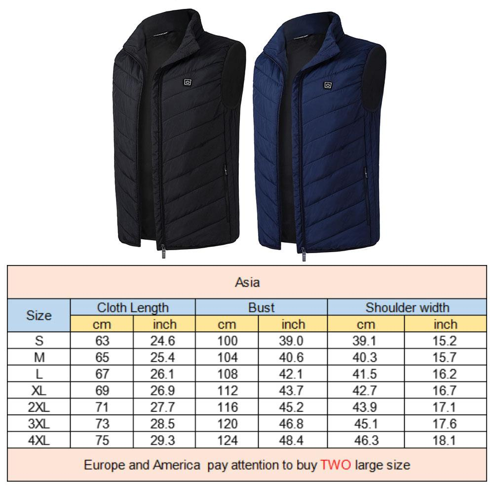 Graphene Electric Warm Vest USB Intelligent Constant Temperature Heating Vest For Outdoor Sports Fishing