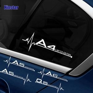 2pcs Car windows decals sticker for Audi A3 A4 A5 A6 A7 A8 TT Q3 Q5 Q7 A1 B5 B6 B7 B8 B9 8P 8V 8L C6 C5 C7 4F(China)