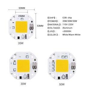 LED COB Chip 220V 110V Volt Lampe Keine Notwendigkeit Schweißen 20W 30W 50W High Power cob LED Matrix Licht Perlen DIY Scheinwerfer Lampe Flutlicht