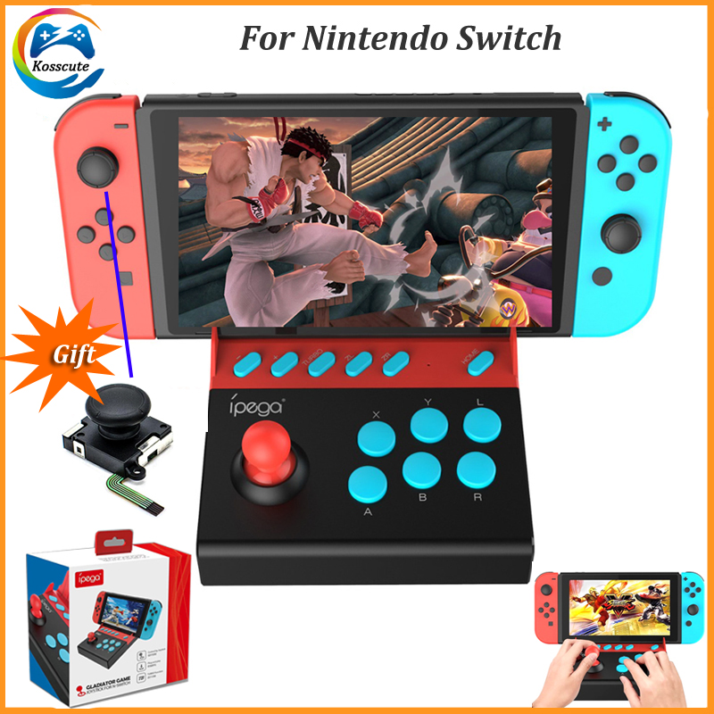 For iPega PG-9136 Arcade Joystick for Nintendo Switch Single Rocker Control Joypad Gamepad for Nintendo Switch Game Console+Gift