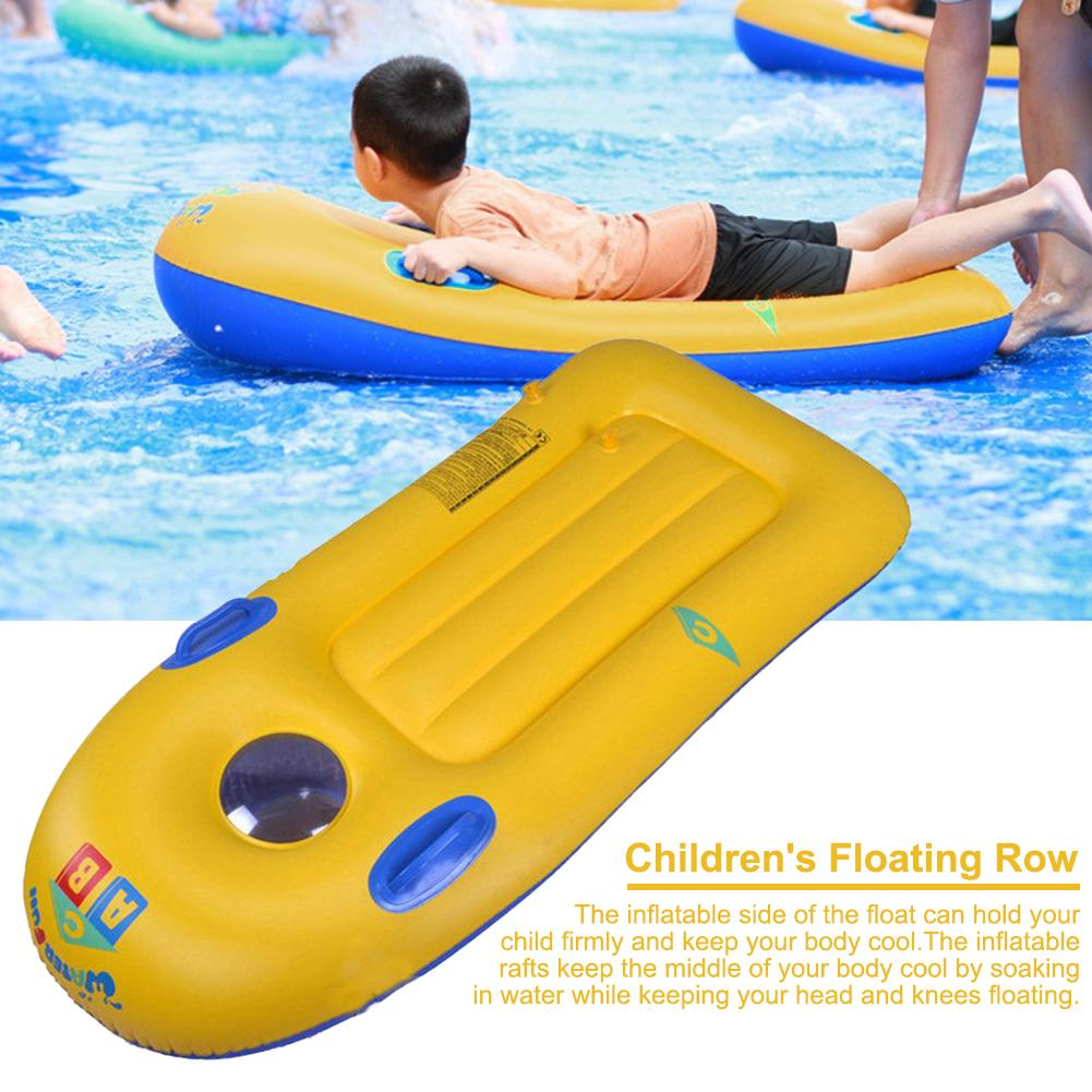 Children's Inflatable Swimming Float Bed Fluorescent Pool Float INS Hot Swimming Ring Relax Water For Children Ages From 3 To 6