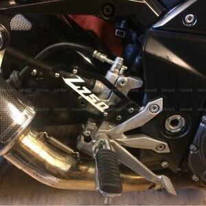Image 4 - קדמי רגל פג העקב צלחות משמר מגן עבור KAWASAKI Z750 Z750R Z 750/750R 2007 2012 2011 12 אביזרי אופנוע אלומיניום