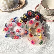Girls Fresh Wind  Korean  Hair Accessories for Women Summer New Headdress Small Daisy Flower Retroe Embroidery Seaside