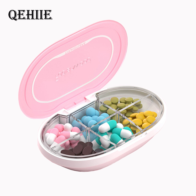 Pill Organizer Pill Box Silicone Moisture-Proof Design Pill Case To Hold Vitamins Supplements And Medication Pills Dispenser