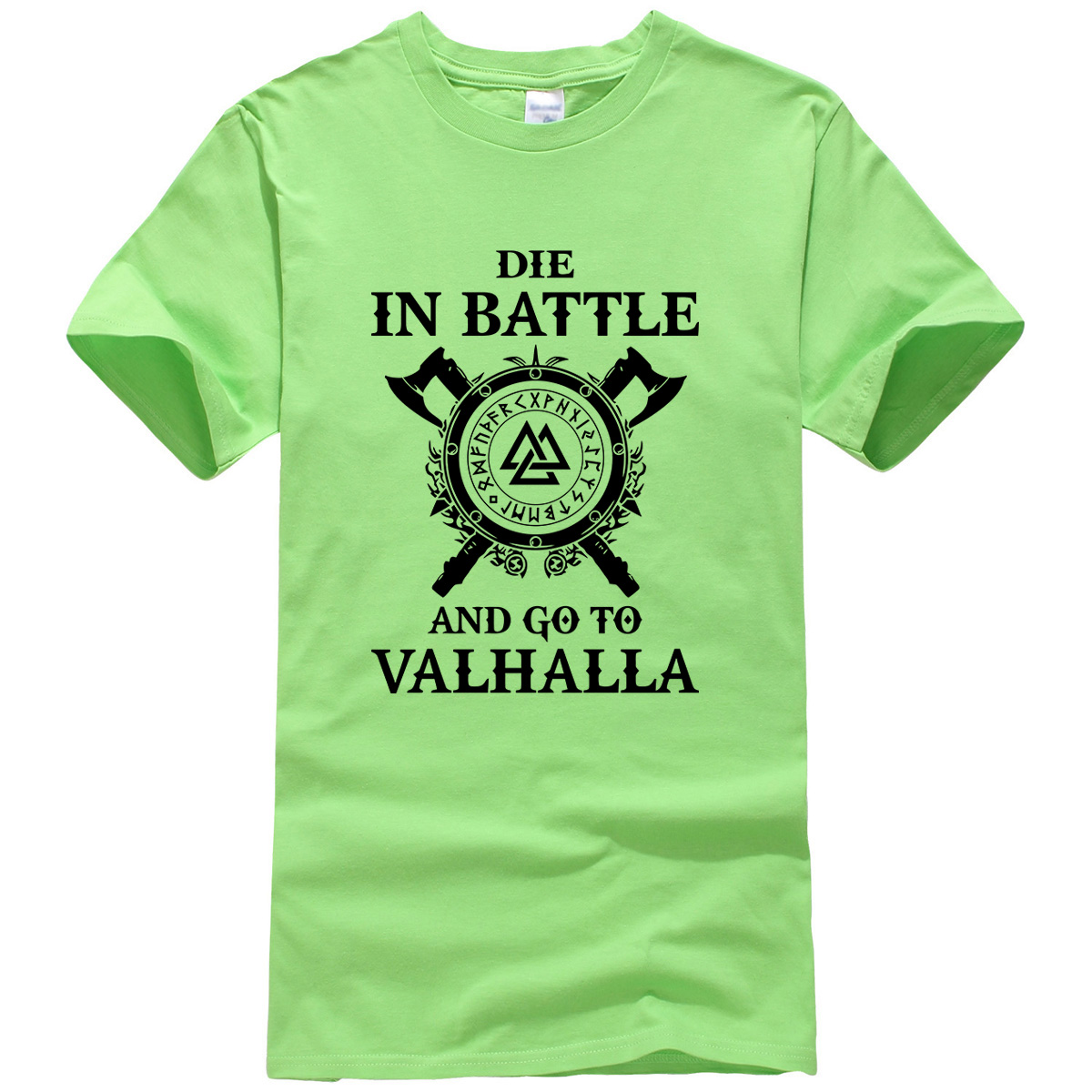 Summer 2019 New Fashion Vikings ODIN Top Men's T-shirts DIE IN BATTLE AND GO TO VALHALLA Funny T Shirt Men Harajuku Tops Tees