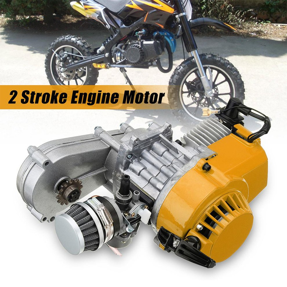 Exquisitely Designed Durable 49cc Mini Dirt Bike Engine With Transfer Box Yellow Pull Start Mini Moto Yellow
