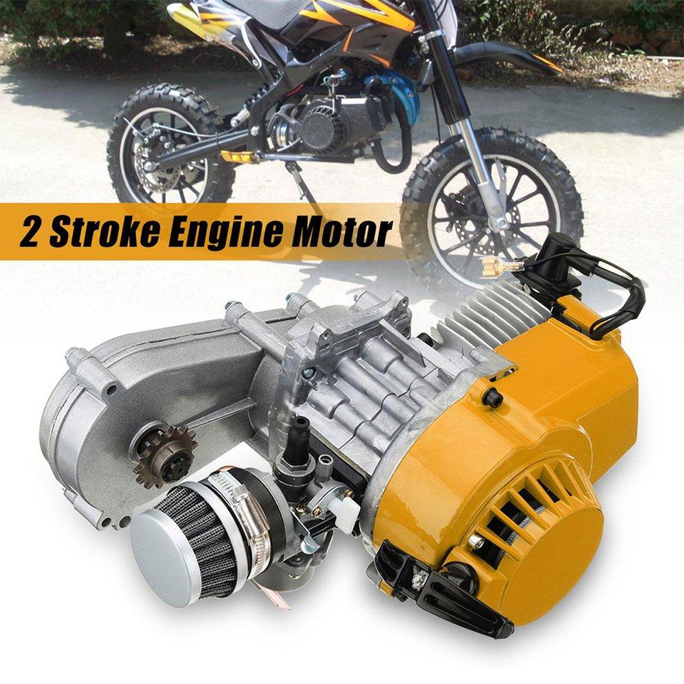 Exquisitely Designed Durable 49cc Mini Dirt Bike Engine With Transfer Box Yellow Pull Start Mini Moto Yellow