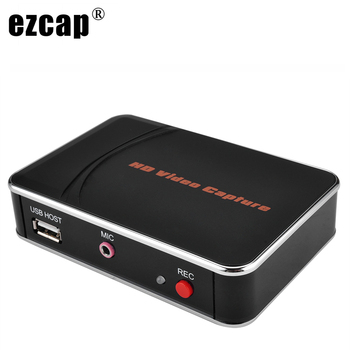 EZCAP 280HB Video Capture Card 1080P with Micphone Mic input ,HDMI Game Recording Box for PS4 PS3 TV STB to USB U Flash Disk