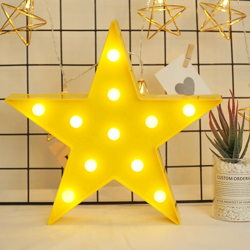 Star Shaped Led Desk Lamp Night Lights