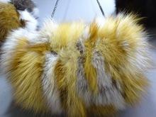 100 prawdziwy czerwony lis futro torebki zimowe ciepłe ręce torba Fox torba z futerka ogrzewacz dłoni łańcuch torebka na ramię torebki tanie tanio Inne Akcesoria
