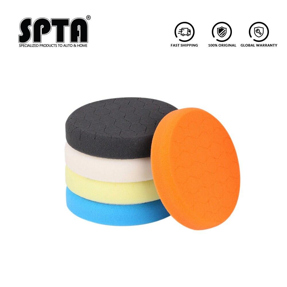 (Vendas a granel 1) spta 6.5 Polegada (165mm) leve/médio/corte pesado almofadas de polimento & almofadas de polimento para 6 Polegada (150mm) ro/da/ga polidor de carro
