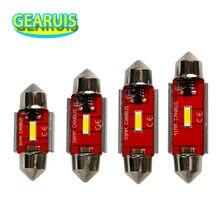 4 шт., Купольные светильники Festoon C5W Canbus, без ошибок, 1200 лм, 3 Вт, 31 мм, 36 мм, 39 мм, 41 мм, 1860 чипов, светодиодный внутренний купольный светильник, цве...