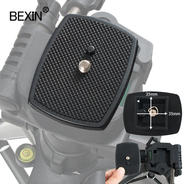 Dslr Camera Plastic Adapter Mount Camera Tripod Head Quick Release Plate Camera Base Plate For Three dimensional Tripod Head