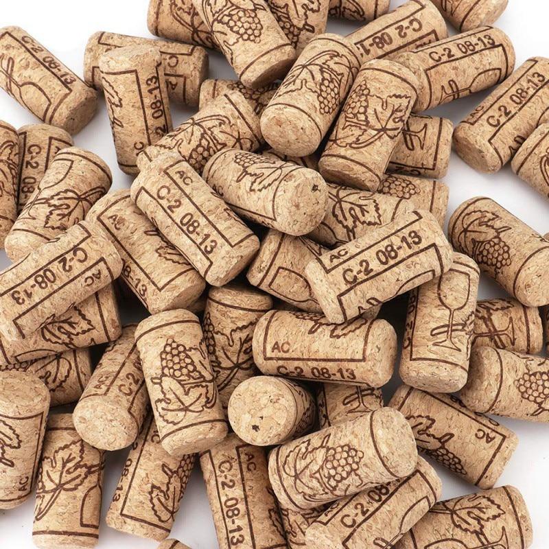 Wine Stopper Pours 100PCS Red Wine Bottle Wooden Stopper Reusable Household Wooden Stopper Festive Party Decoration