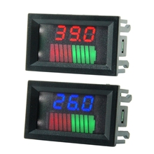 12V 24V 36V 48V 72V ACID Lead Battery Charge Level Indicator Battery Tester Lithium Battery Capacity Meter LED Tester Voltmeter