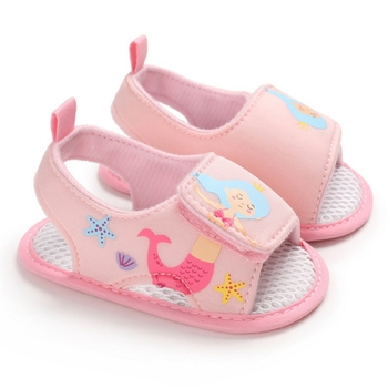 Baby Girls Shoes Breathable Anti-Slip Summer Sandals Toddler Soft Soled First Walkers