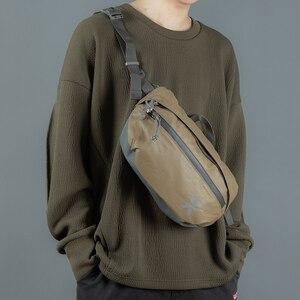 Image 2 - Waterproof Men Shoulder Bag Street Trend Chest Bag Unisex Casual Crossbody Bag Bag Oxford Single Shoulder Strap Pack