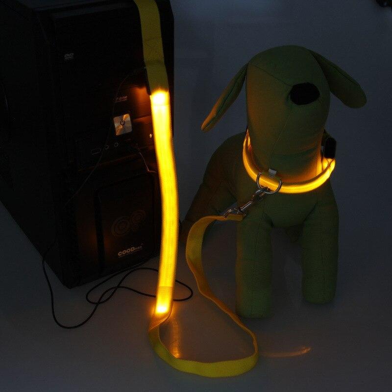[] LED Shining Pet Dog Hand Holding Rope Shining Rope USB Charging Dog Rope Dog Pulling Rope