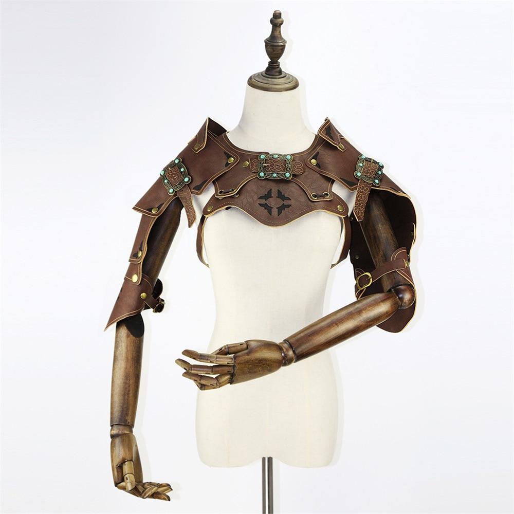 Steampunk révolution industrielle armure châle gilet Halloween Cosplay bras ceinture accessoires Punk Style accessoires