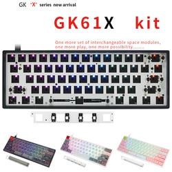 GK61X Mechanische Tastatur DIY Kit Hotswap Tastatur GK61 Upgrade Version 60% Tastatur Kompatibel Kirsche MX Gateron Kailh