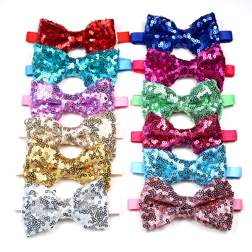 30pcs Christmas Pet Dog Grooming Products Pet Bowties Neckties  Shining Pet Dog Cat Wedding Accessories New Year Pet Bow TieDog Accessories   -