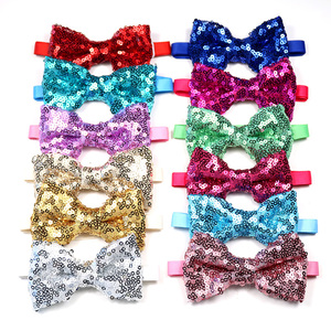 Image 1 - 30pcs Christmas Pet Dog Grooming Products Pet Bowties Neckties  Shining Pet Dog Cat Wedding Accessories New Year Pet Bow Tie