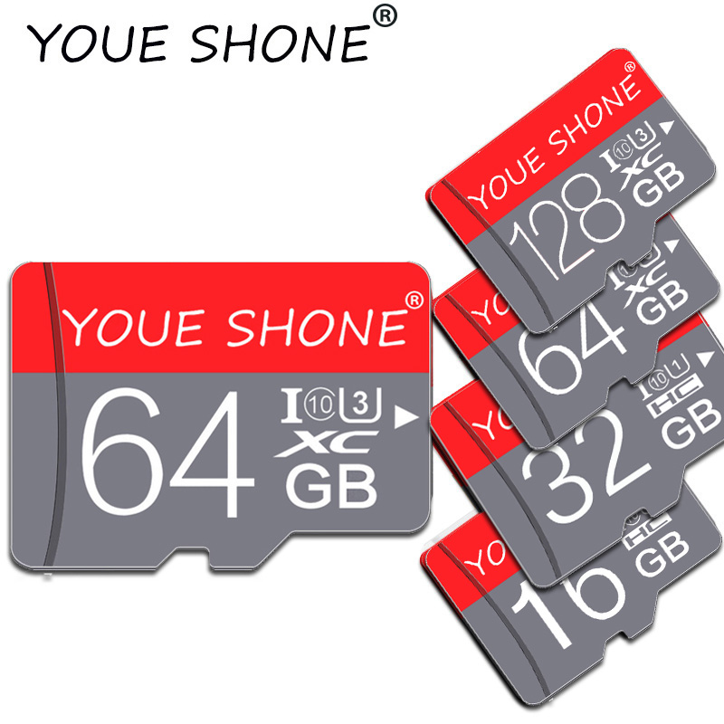 NEW Design  Micro SD Card 128GB 64GB 32GB 16GB 8GB 4GB High Speed Memory Card For Smartphone TF Card With Free Adapter