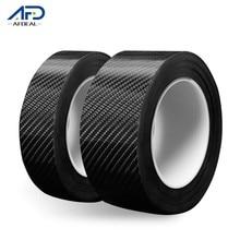 Cinta antideslizante de fibra de carbono para coche adhesivo de seguridad antideslizante, pegatina adhesiva resistente al agua, 3/5M, color negro