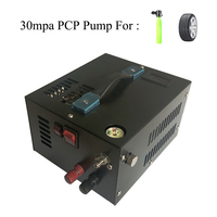 12V 4500psi 300bar 30mpa PCP Air Compressor Including 220V Transformer Mini PCP Pump Vehicle High Pressure Oxygen Cylinder Tank