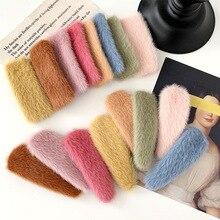 Clip-Accessories Hairpin Hair-Barrettes Plush-Hair Girls Solid-Color Women Winter Korea